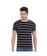 Hols Mens Cotton Stripes Multi colour T-shirt - ₨1,363.47 INR