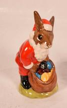 "Royal Doulton Santa Bunnykins Happy Christmas Figurine DB17 4 1/2"" - $25.74"