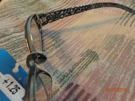"READING GLASSES ""SIGHT"" NEW +1.25 DIOPTER RHINESTONES & LACE IN FRAMES B... - $5.00"