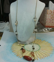 """Vintage Jewelry: 32"""" Corded  Necklace W/Beads 2016111619 - $7.91"""