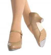 Capezio 560 Tan Women's Size 6M (Fits 5.5 Leather Jr. Footlight Buckle T... - $29.99