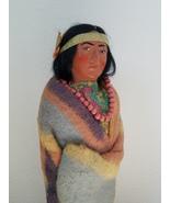 "Vintage 9 1/2"" Indian Male Doll SKOOKUM Bully  - $21.99"