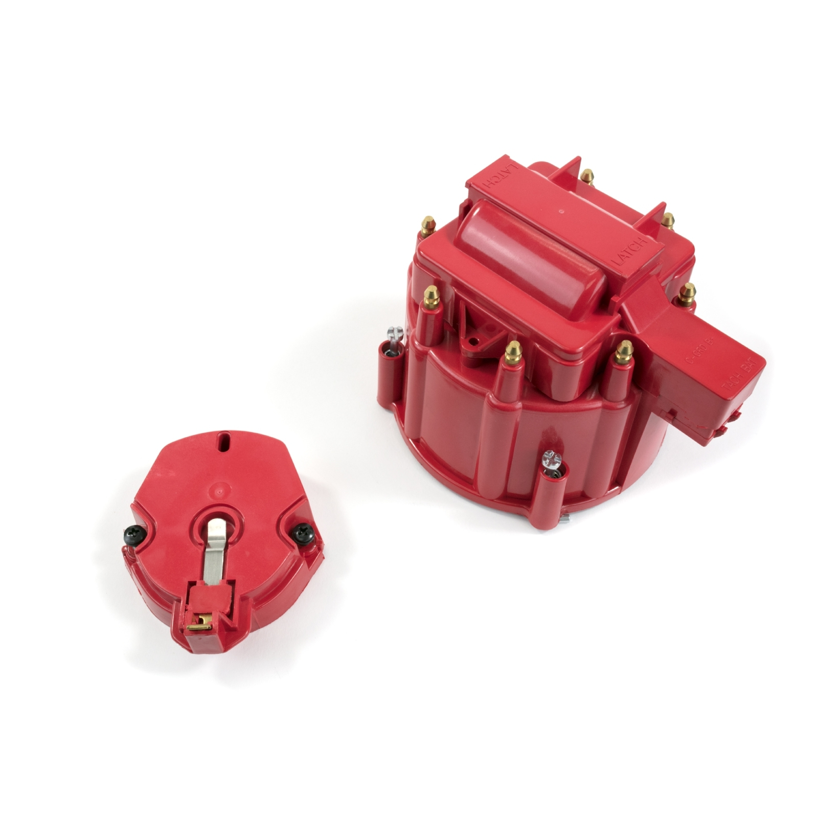A-Team Performance CR8R HEI OEM Distributor Cap, Rotor and, Coil Cover Kit Red