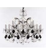 Swarovski Crystal Trimmed Chandelier! 19th C. Baroque Iron & Crystal Cha... - $753.62
