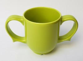 Dignity by Wade 2 Handle Cup Ceramic Green Hold Securely  - $24.70