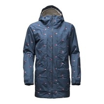 NEW Mens The North Face Tight Ship Hooded Jacket Shady Blue Double Vision Print - $120.00