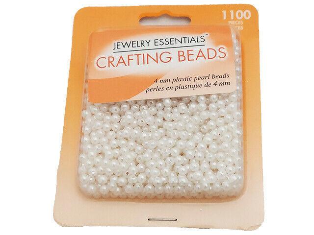 Horizon Group Jewelry Essentials 4mm Plastic Pearl Beads #JC11921-10