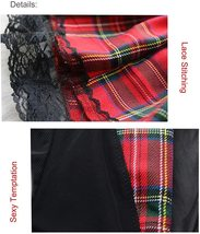 Lucky2Buy Womens Sexy Schoolgirl Lace Lingerie Cosplay Mini Plaid Skirts Outfit  image 6