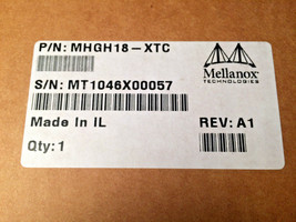 Mellanox MHGH18-XTC ConnectX VPI Single-Port 20Gb Adapter Card image 2