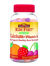 6x Nature Made Kids First Calcium+Vitamin D3 65 Gummies Cherry,Orange,St... - $24.18