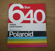 Vintage 1981 80s Polaroid SUN 640 Instant Land Camera Instruction Bookle... - $11.99