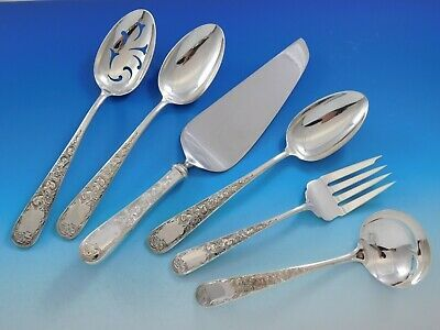 Primary image for Old Maryland Engraved by Kirk Sterling Silver Essential Serving Set Large 6-pc