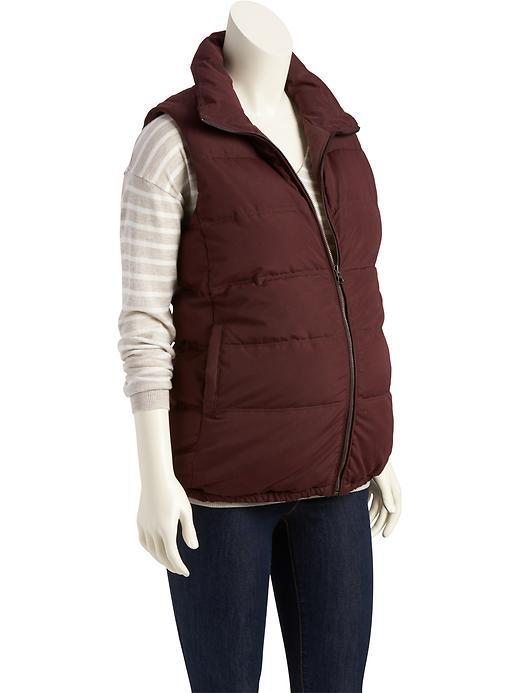 NEW Old Navy Maternity Outerwear ~ Fleece Lined Quilted Vest ~ Burgundy XL, 2XL