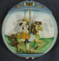 My Favorite Memory Collector Plate Carousel Daydreams 3-D Musical Animated - $37.95