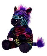 Build a Bear Wild Style Zebra Black Rainbow Stripes 17in. Stuffed Plush ... - $89.95