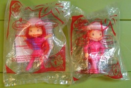 Strawberry Shortcake Doll Lot of 2 McDonald's Happy Meal Toy Figures #1 #5 2007 - $3.70
