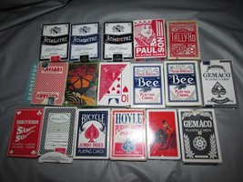 17 Boxes Assorted Playing Dealer, Souvenir Casino Cards Gemaco, Aristocr... - $19.79