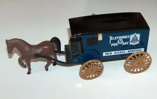 ERTL Horse and Carriage Telephone Coin Bank