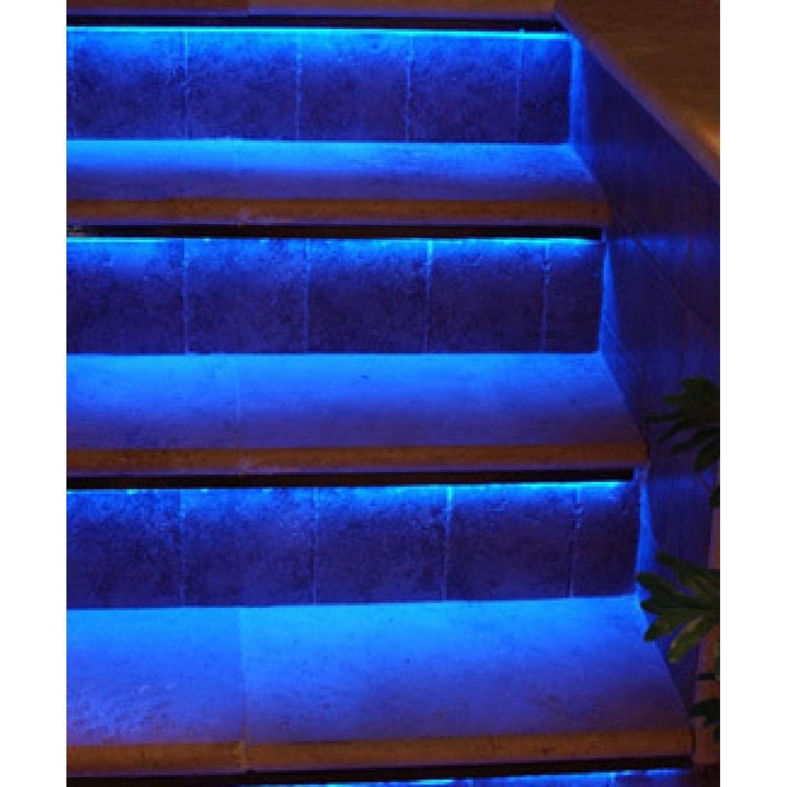 RGB LED Walkway Hallway Stairway Runway Stairs Patio Deck Yard Steps Lights Kit - $49.95