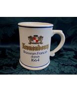 KRONENBOURG Beer Mug Stein Glass Tankard Vintage Souvenir Franklin Mint ... - $9.95