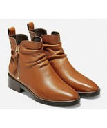 COLE HAAN Harrington Grand Slouch Women's British Tan Bootie Size 6.5, W... - $99.99