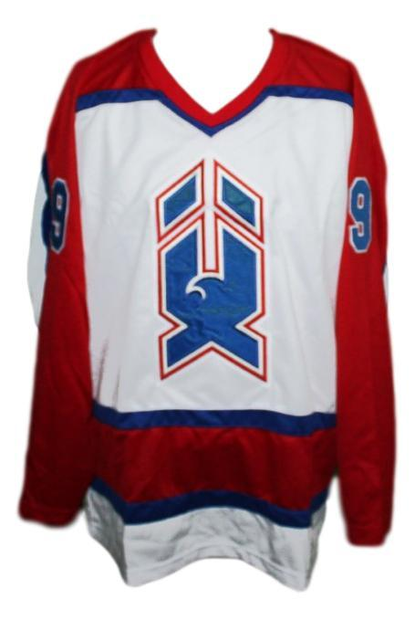 Bernie nicholls new haven nighthawks retro hockey jersey white  1