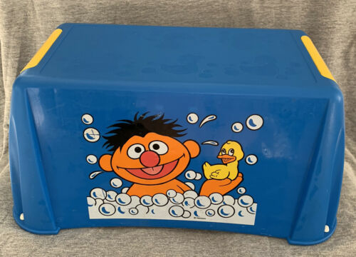 Primary image for Vintage Sesame Street Ernie Henson Child Foot Step Stool Kids Bathroom Muppets