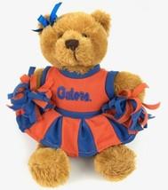"Plushland Plush 8"" Gator Bear Cheerleader Plays 11 Seconds ""Go Gator Go""... - $9.00"