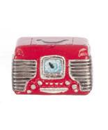 Dollhouse Miniature -1950's Retro Radio Red  - 1/12 inch scale - $14.99