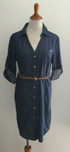 Guess Los Angeles Adaline Tunic Chambray Belted Shirt Dress sz Medium  N... - $27.71
