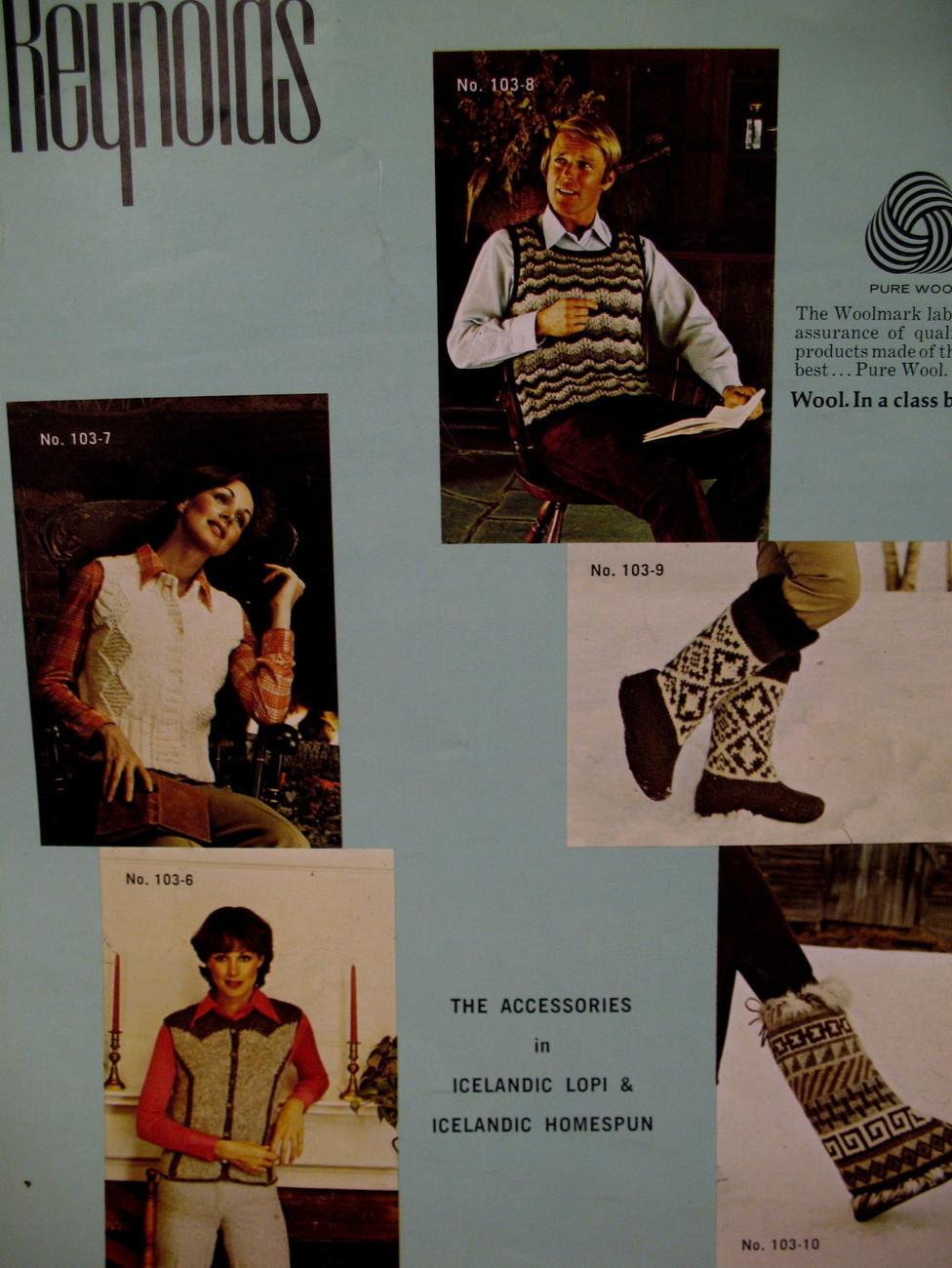 Reynolds Icelandic Lopi Caps Vests Boots Knitting Pattern