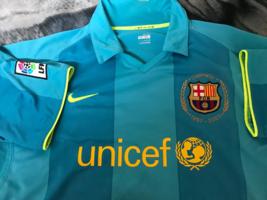 Barcelona  Away Nike Soccer Jersey 2007/2008 50Years Anniversary shirt  - $59.99