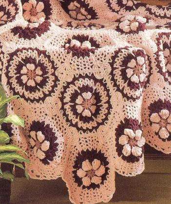 Keely's Wildflowers & Rose Combo Afghan Crochet Patterns~Gorgeous!