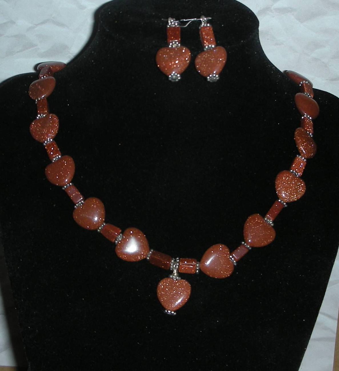 Sunsitara goldstone hearts