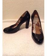 Womens Size 6.5 M Stuart Weitzman Black Patent Leather Shoes Pump Block ... - $27.97