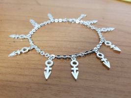 Bracelet - Multi Charms - 1st Love - Remembrance Symbols - 925 Silver - $129.00