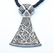 Viking Axe Pendant - Symbolic Nordic Warrior Jewelry. Celtic Knot Design... - $11.45