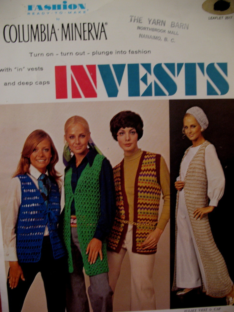 Vintage Vest Tam Cap Mini Skirt Crochet Pattern Adults