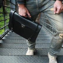 Sale, Handmade Men Tote Bag, Full Grain Leather Men Briefcase, Vintage Shoulder  image 4