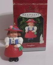 Vintage Hallmark Ornament - DAUGHTER - 1998 - Girl Doll Going Shopping - $4.90