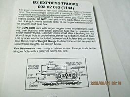 Micro-Trains Stock # 00302093 (1144) BX Express Trucks Medium Extension (N) image 3