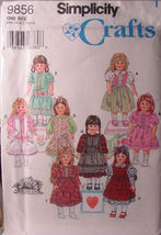 "Pattern 9856 Fancy American Style Dresses for 18"" Girl Doll Clothes - $6.99"