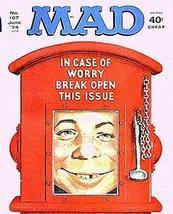 Mad Comic Magazine # 167 June 74 In Case Of Worry Break Fine (Mad Magazine) [Pap - $23.32