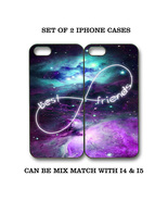 Custom Nebula Galaxy Mint Purple BFF Best Friends iPhone Case - 2 iPhone... - $19.99