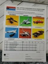 Monogram 1984 order form 1pg advertisement plane car (A10) - $9.90