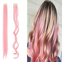 Long Natural Hair Clip In Rainbow Hair Extensions image 14