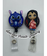 Lilo & Stitch Clay Retractable Badge Reel - $21.55