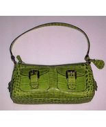 """Dooney & Bourke Shoulder Bag 11 1/2"""" x 7"""" Lime Green Leather Crocodile - $59.95"""