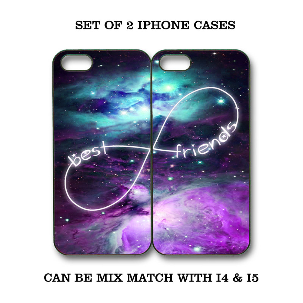 Custom Nebula Galaxy Mint Purple BFF Best Friends iPhone Case - 2 iPhone 5 Cases for sale  USA