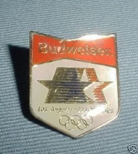 Budweiser 1984 Los Angeles Olympic Souvenir Pin